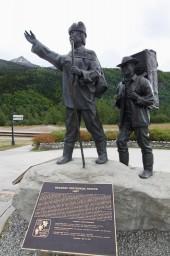 klondike gold rush statue